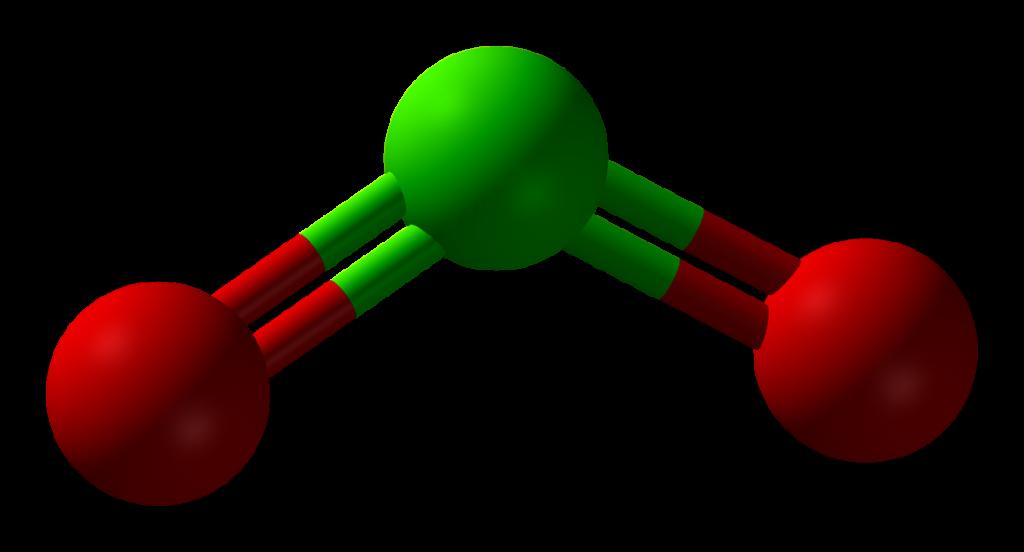 La molécula del Dióxido de Cloro es muy sencilla, pero contiene dos átomos de oxígeno. El CDS es el gas en suspensión en agua